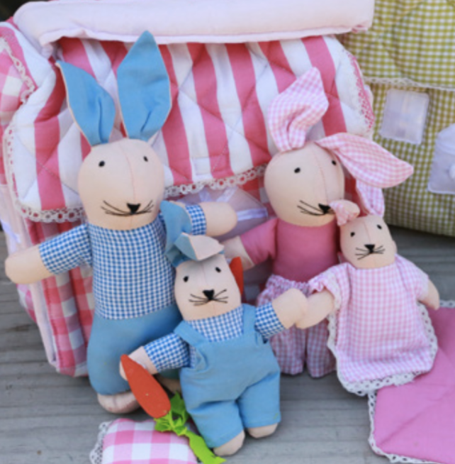 Fair Trade Children's Soft Toy: Bunny House (Assorted)