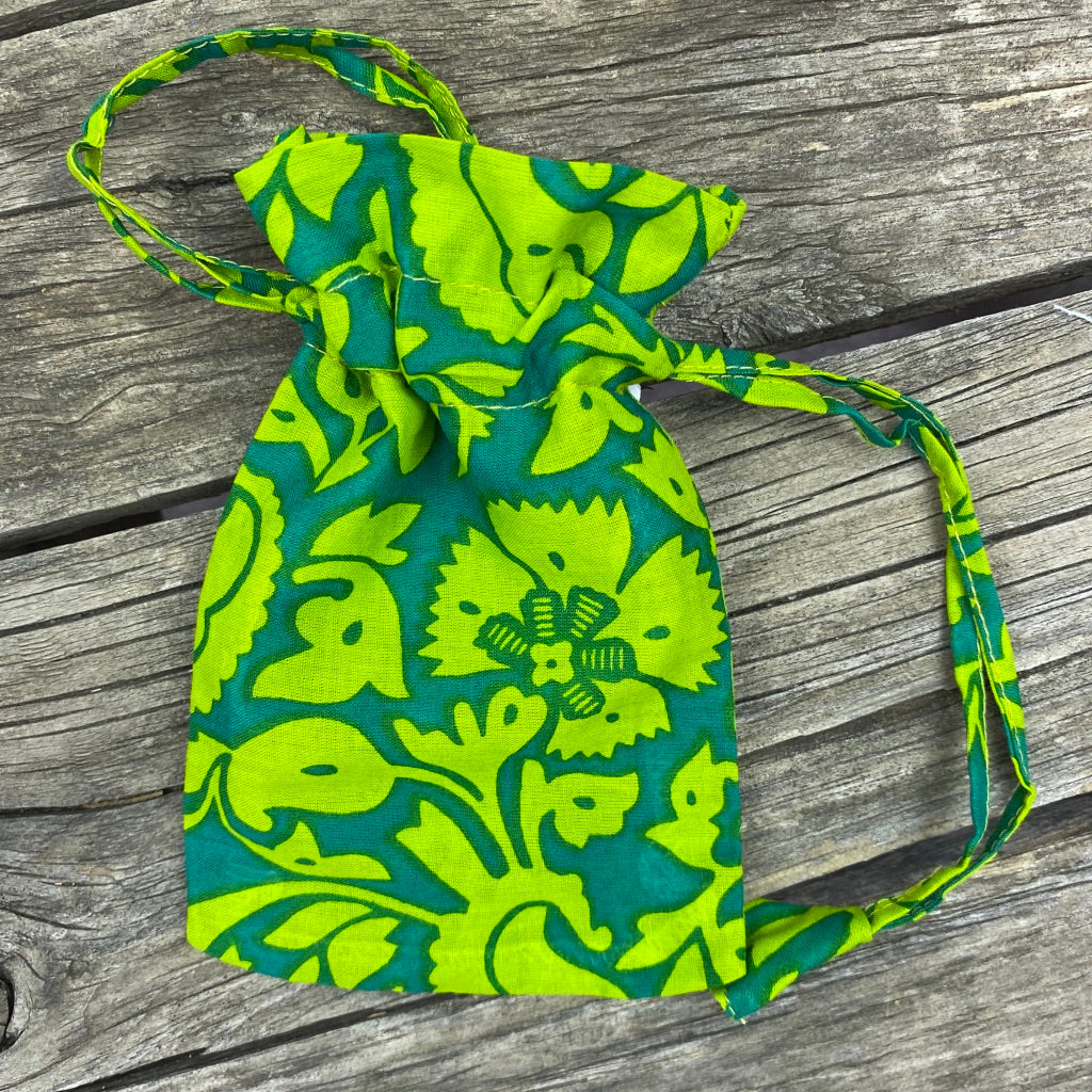 Fair Trade Ethical Gift Bag Eco alternative Summer Green Design