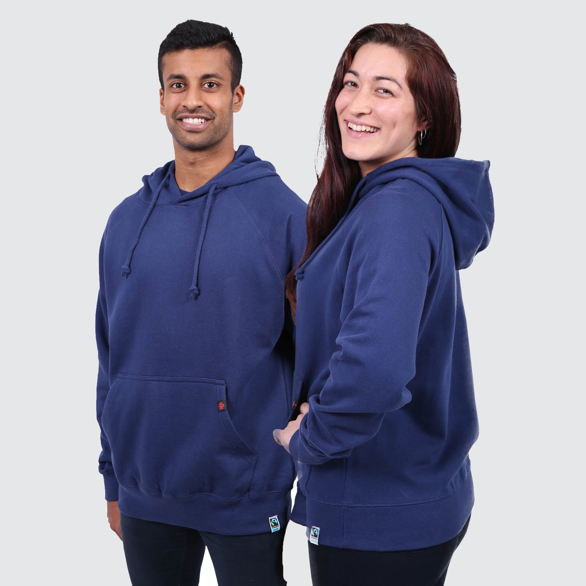 Fair Trade Ethical Organic Plain Navy Hoodie