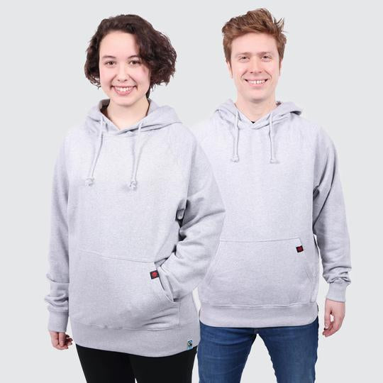 Fair Trade Ethical Organic Plain Grey Hoodie