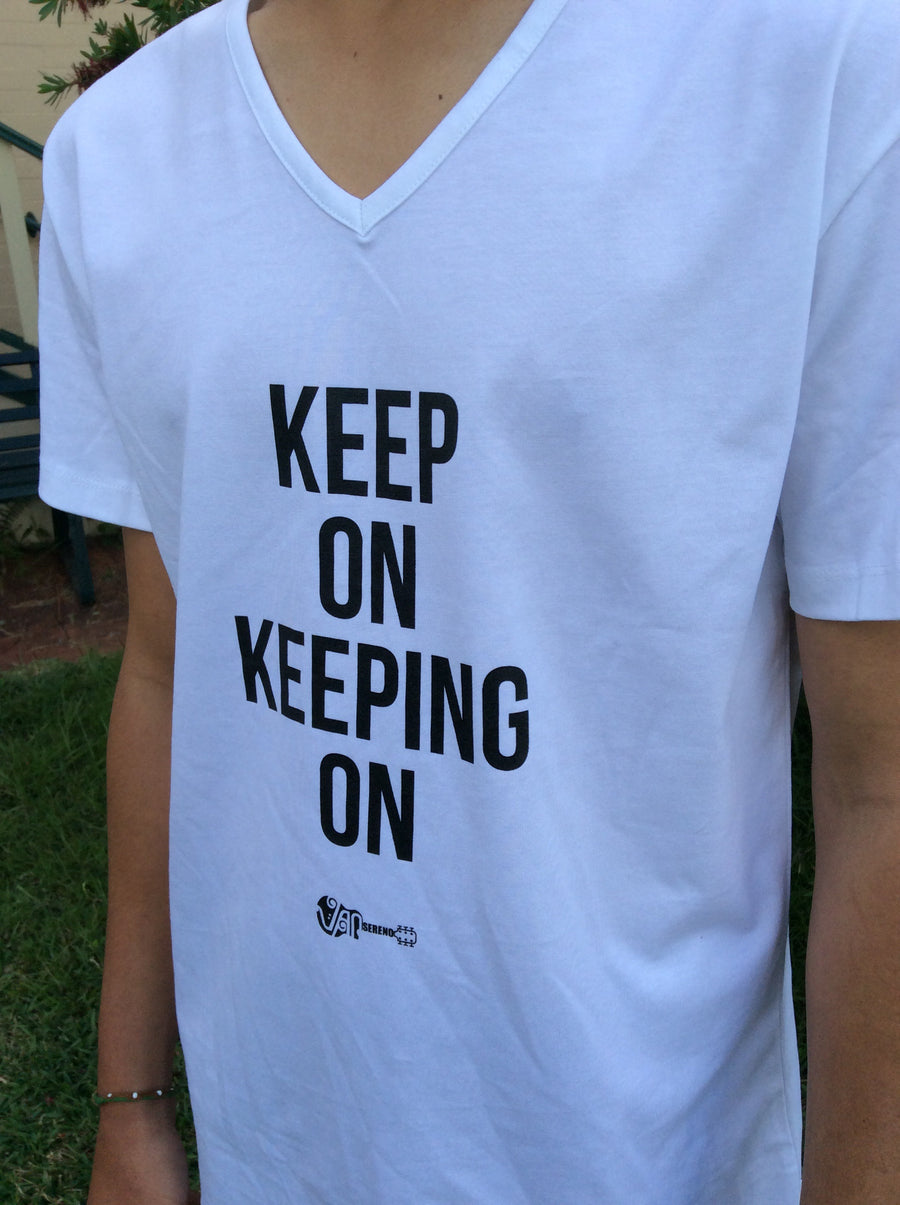 Fair Trade Ethical Cotton Keep On Keeping On T-Shirt