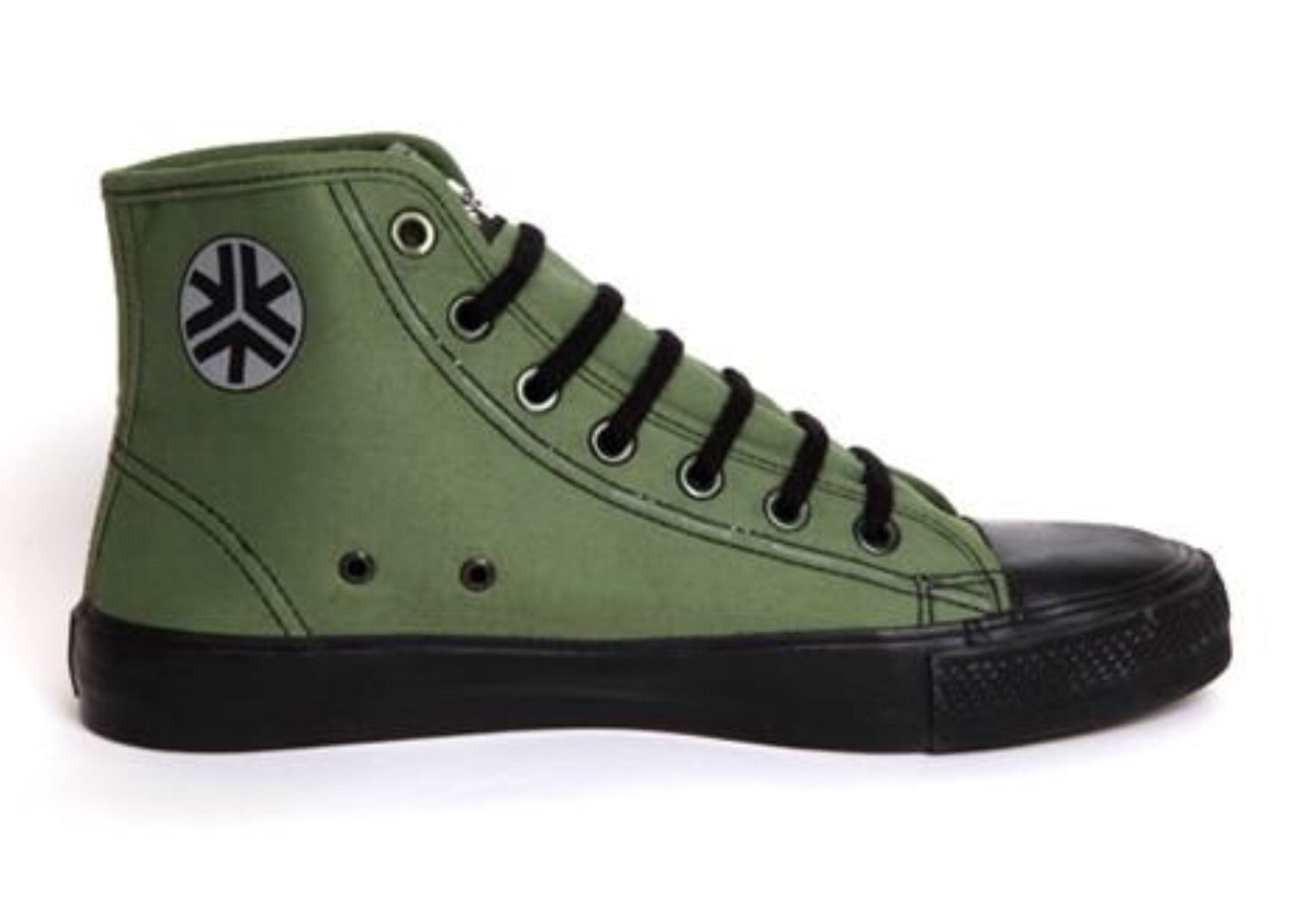 Etiko Fairtrade Hi Top Olive Black Sneakers