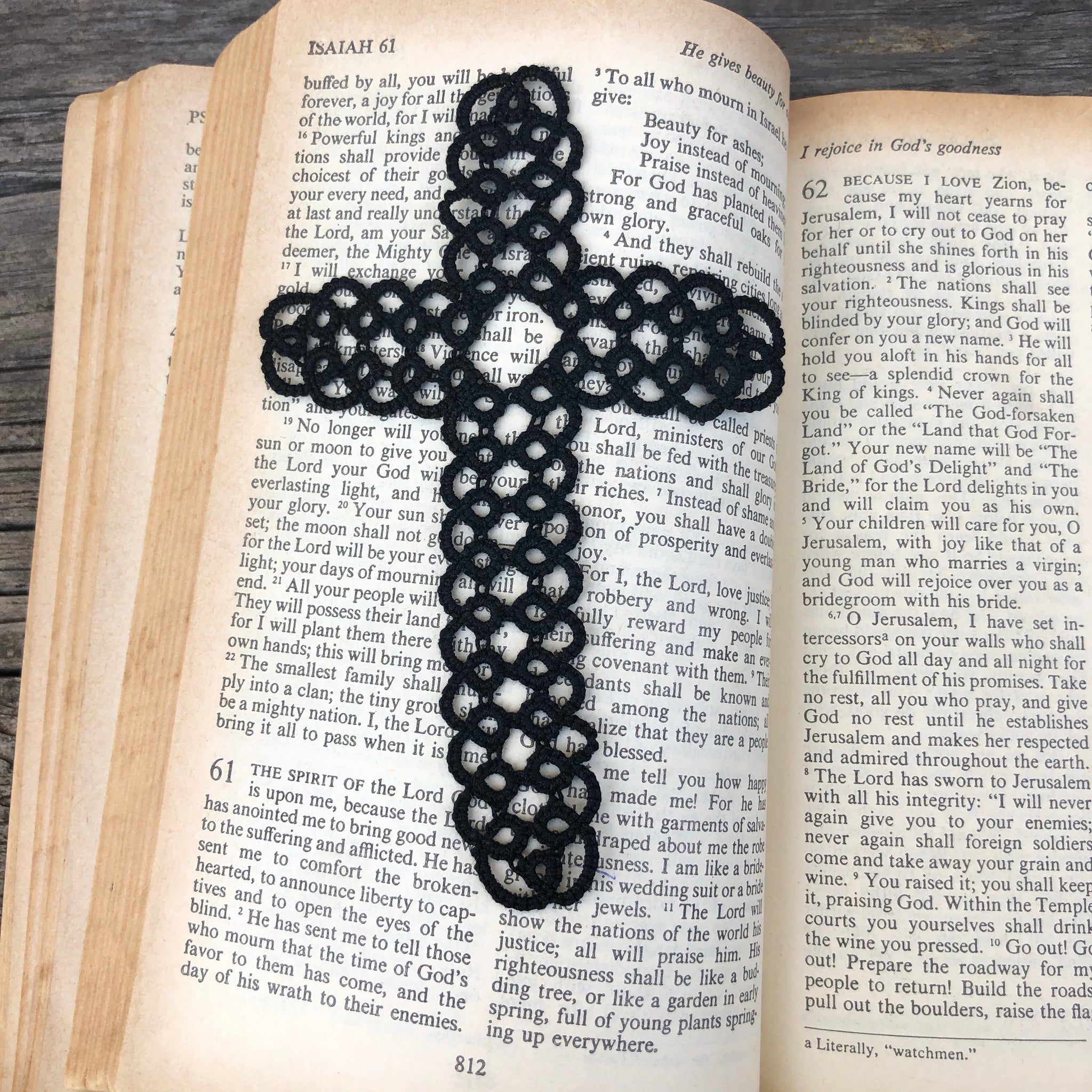 Fair Trade Ethical Tatted Black Cross Bookmark