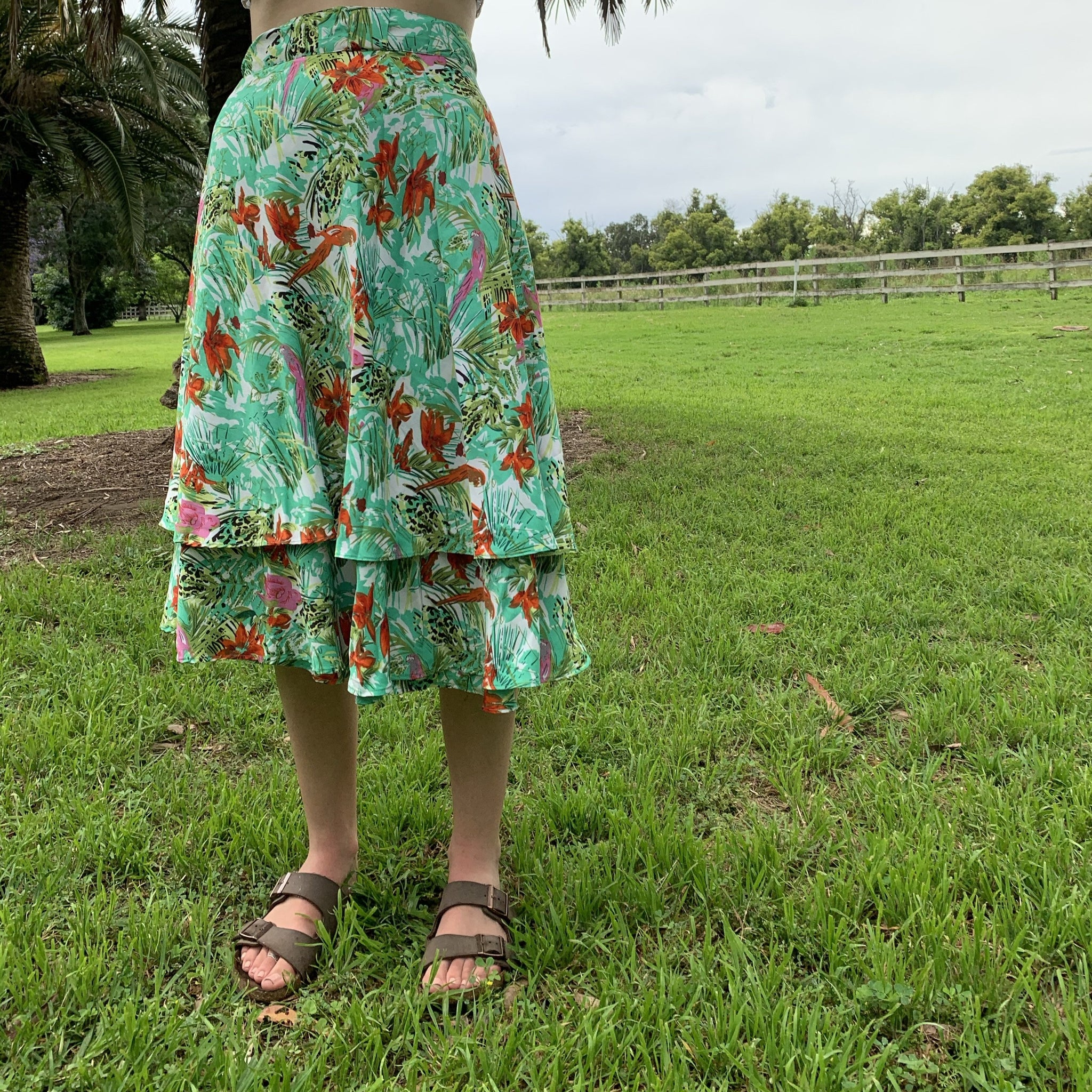 Fair Trade Jungle Upcycled Fabric Wrap Skirt
