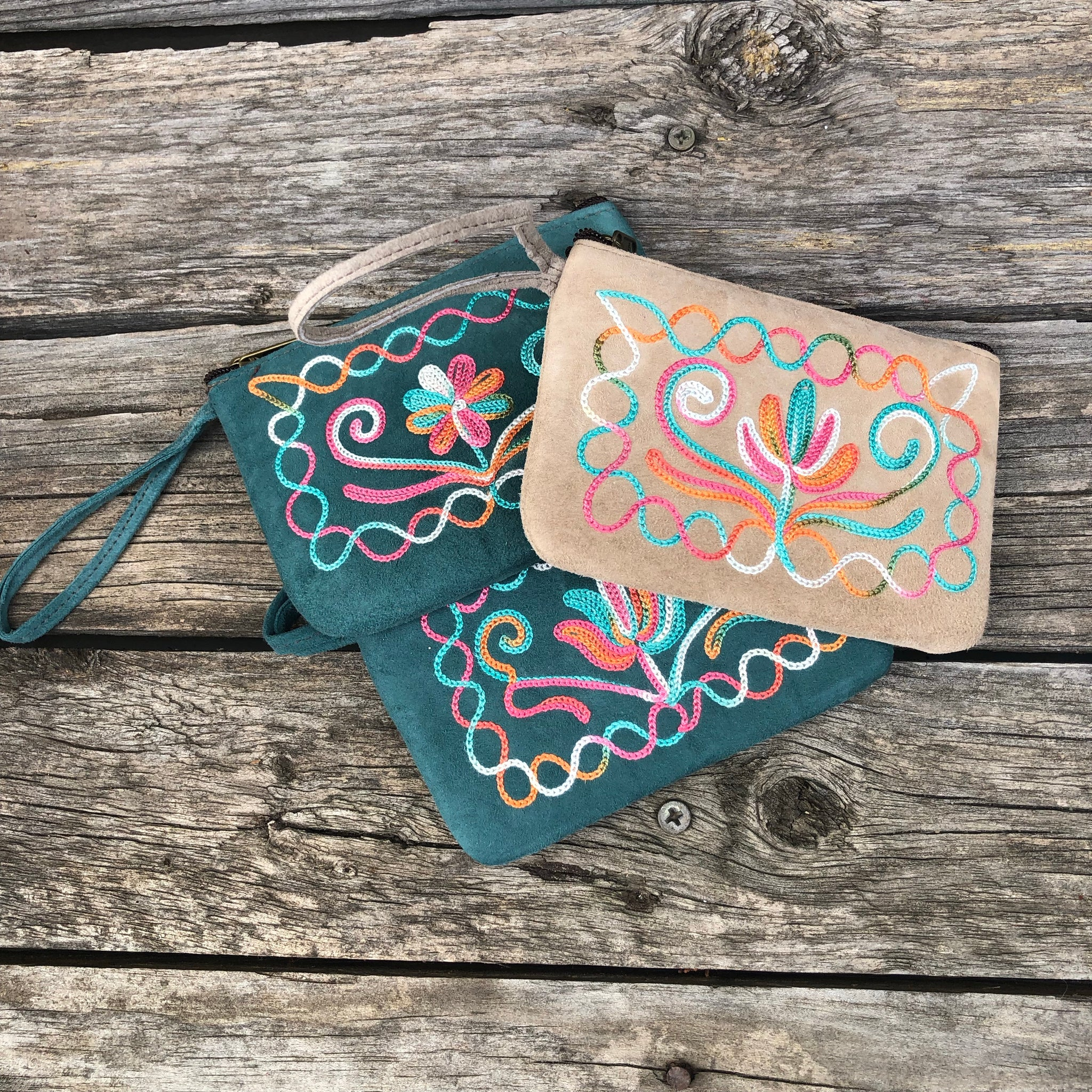 Fair Trade Suede Coin Purse