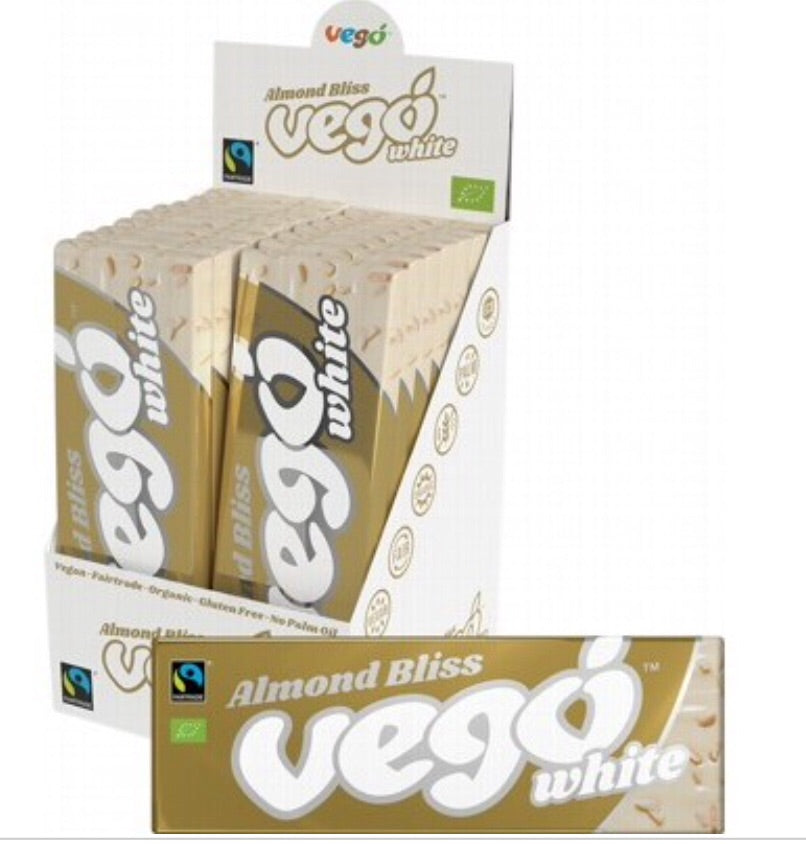Fair Trade Ethical Organic Vego Almond Bliss White Chocolate