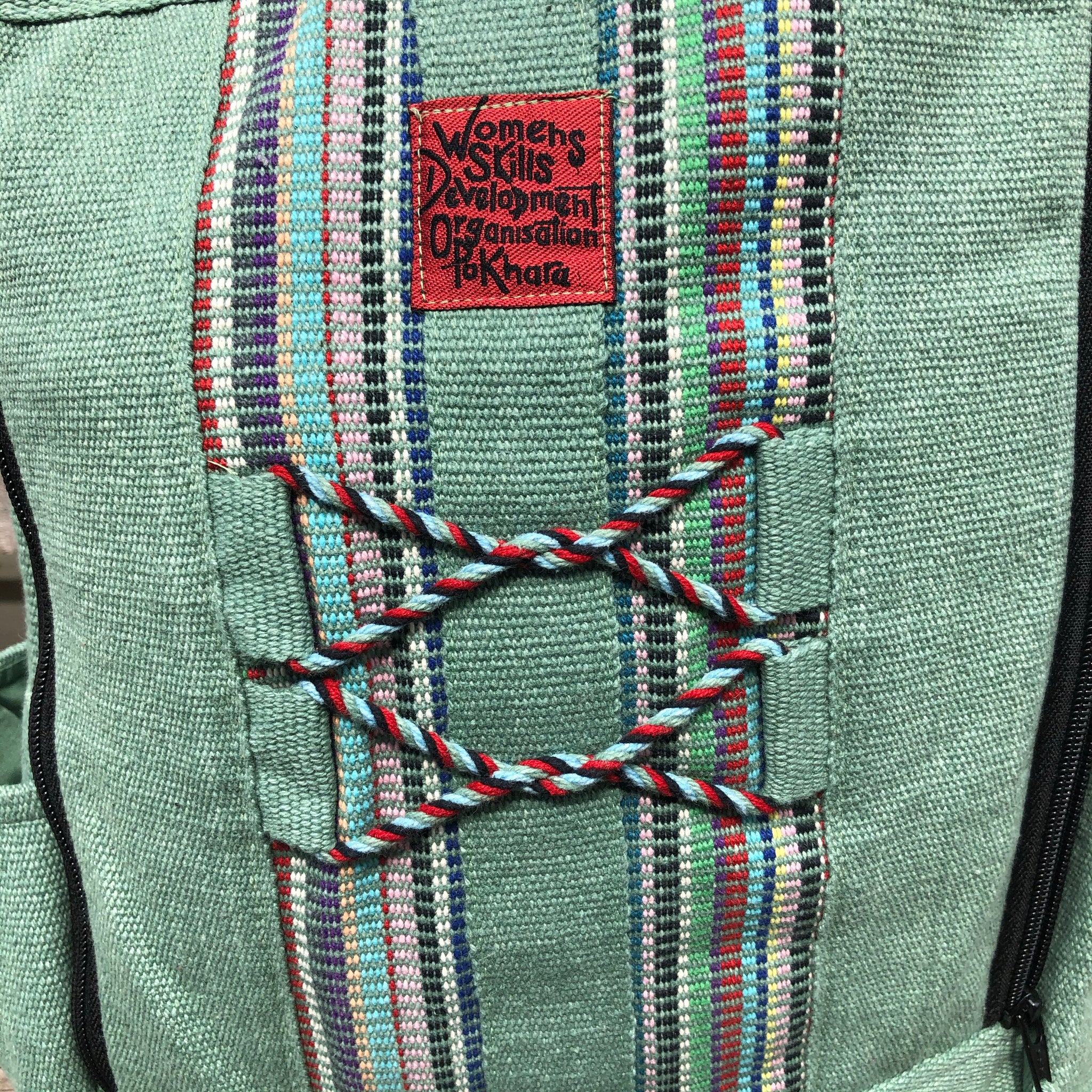 Fair Trade Green Backpack