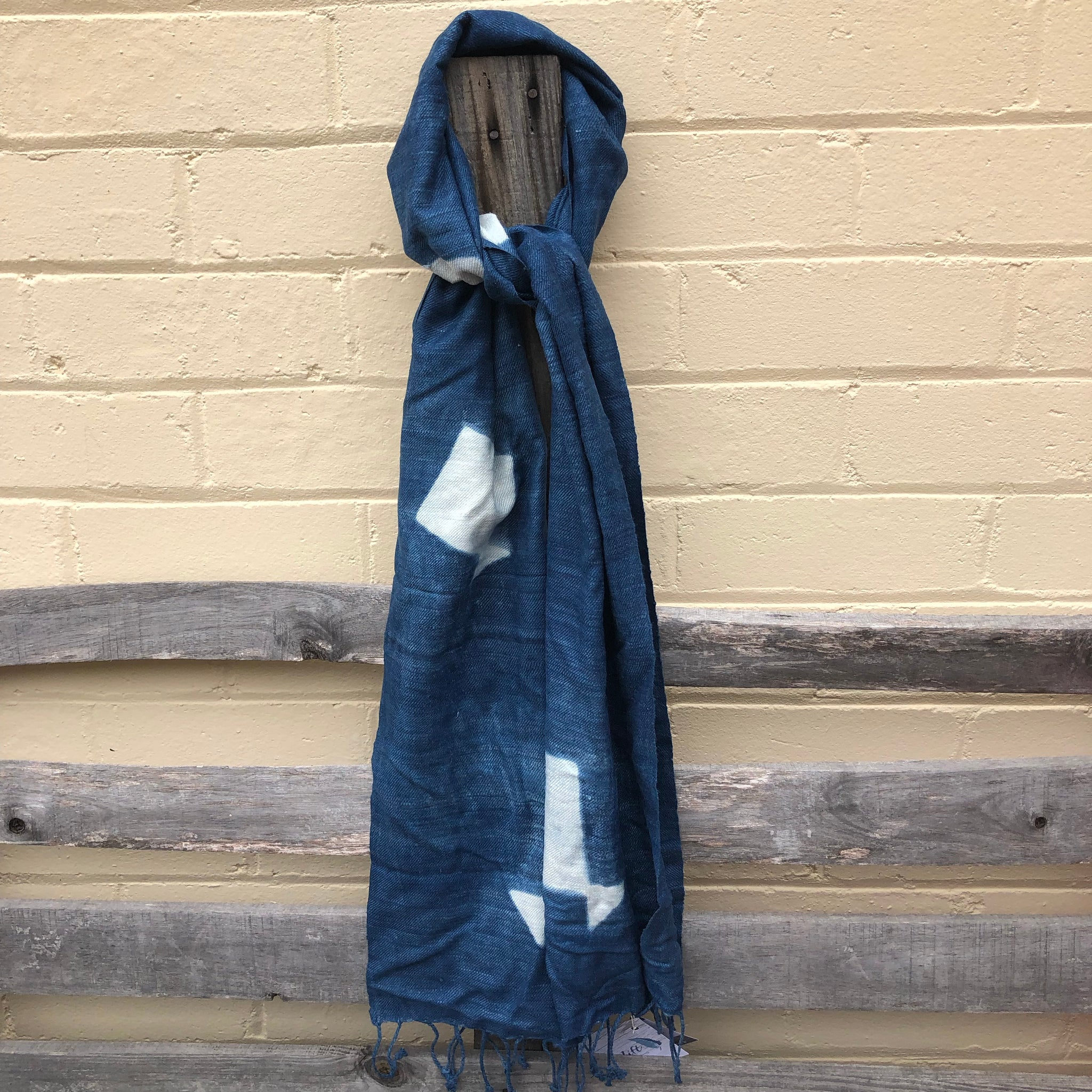 Fair Trade Ethical Indigo Non-Violent Silk Scarf