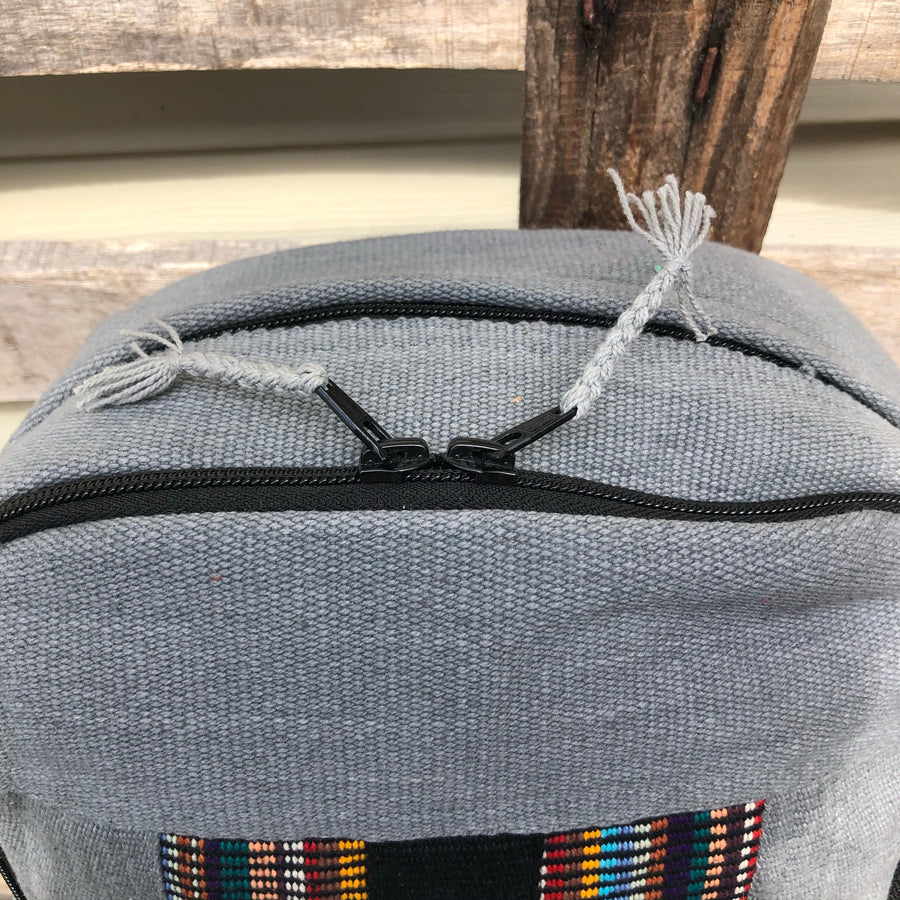 Fair Trade Ethical Grey Backpack