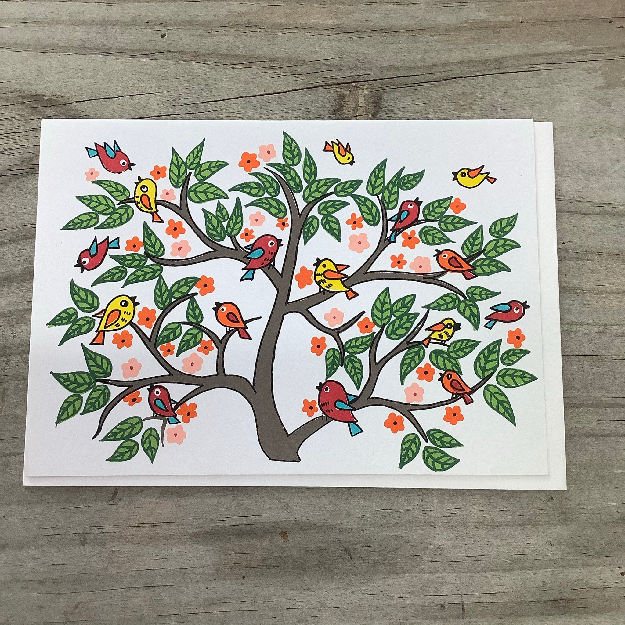 Fair Trade School of Birds Greeting Card