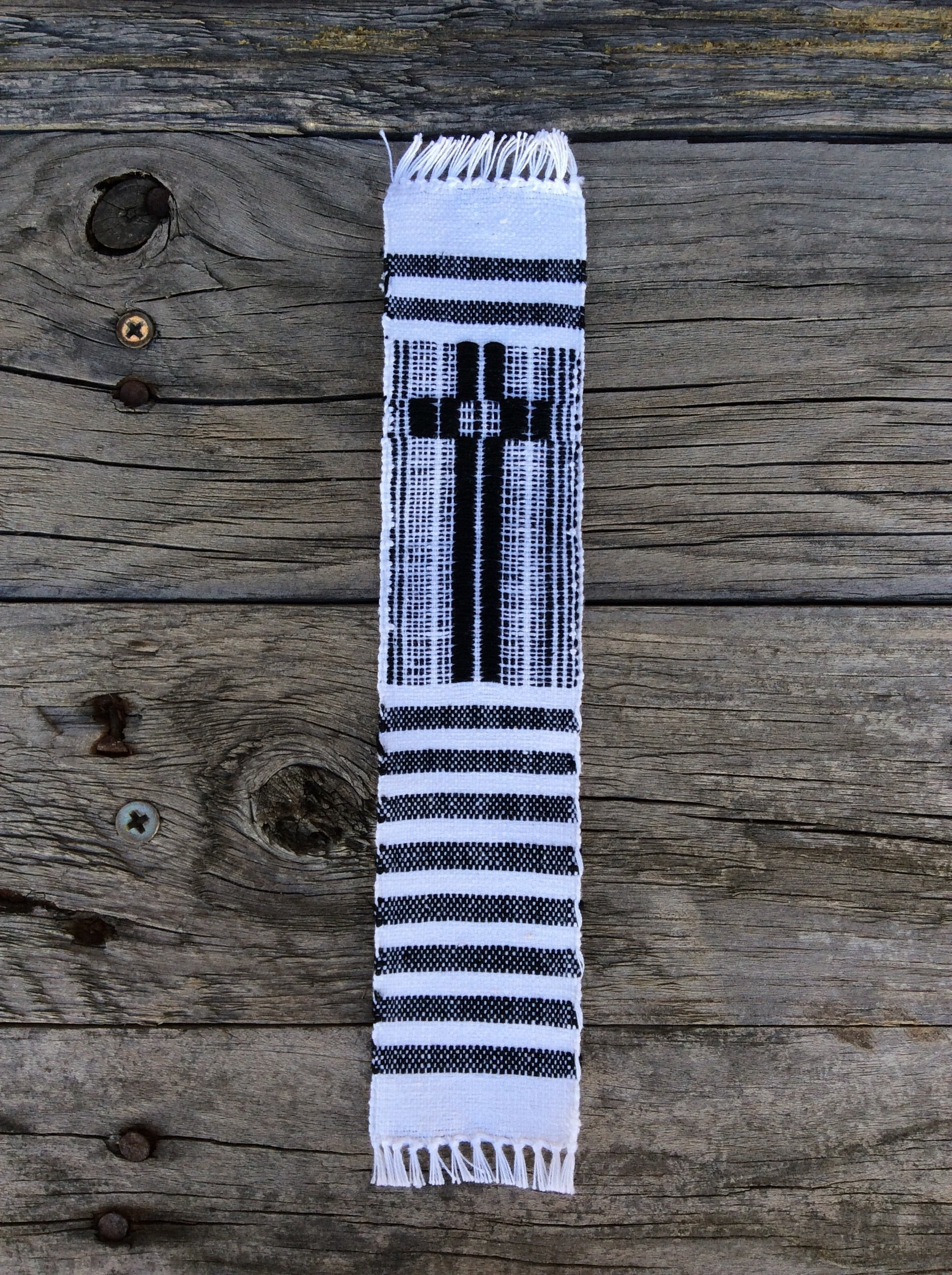 Fair Trade Ethical Woven Cross Bookmark