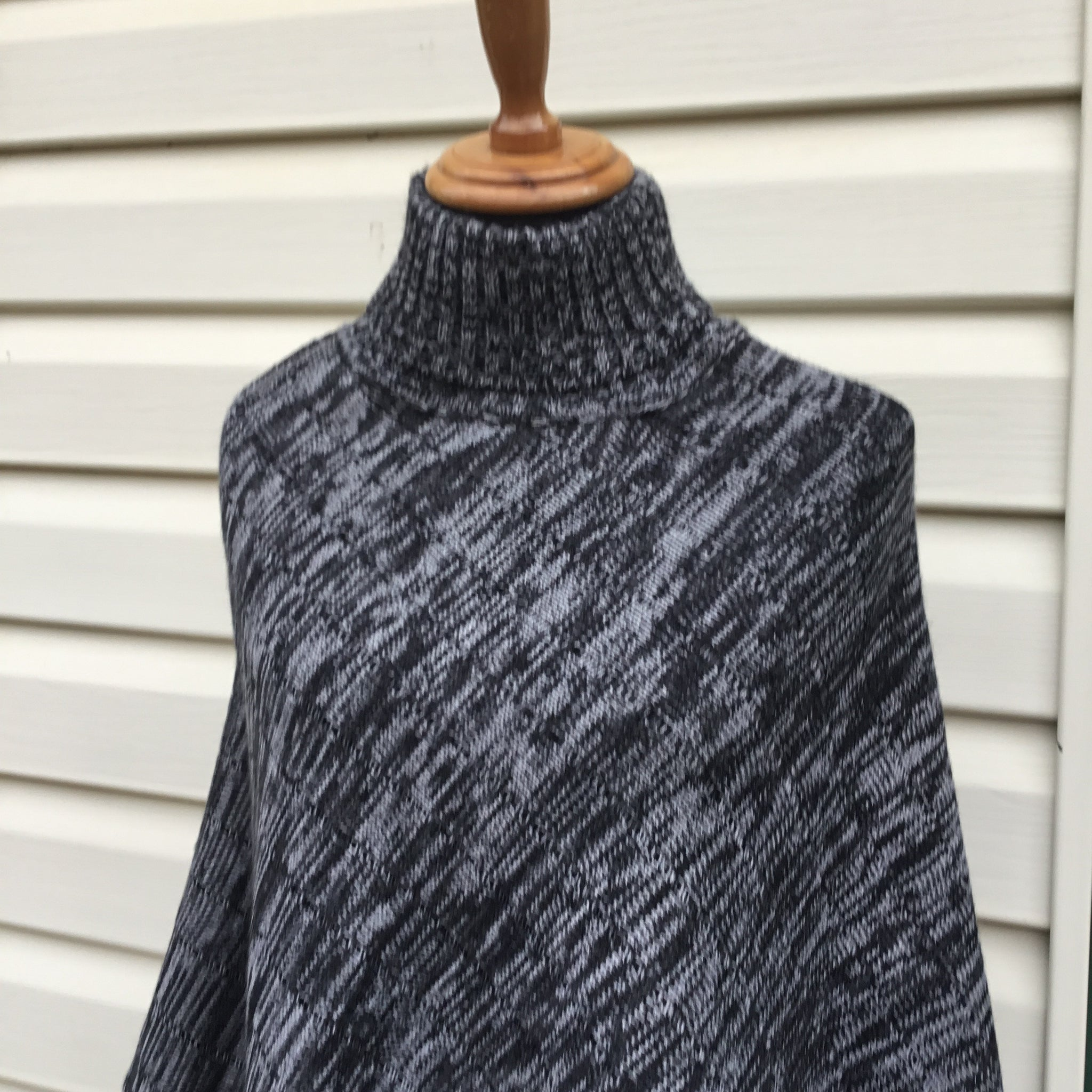 Fair Trade Ethical Woollen Poncho Turtle Neck