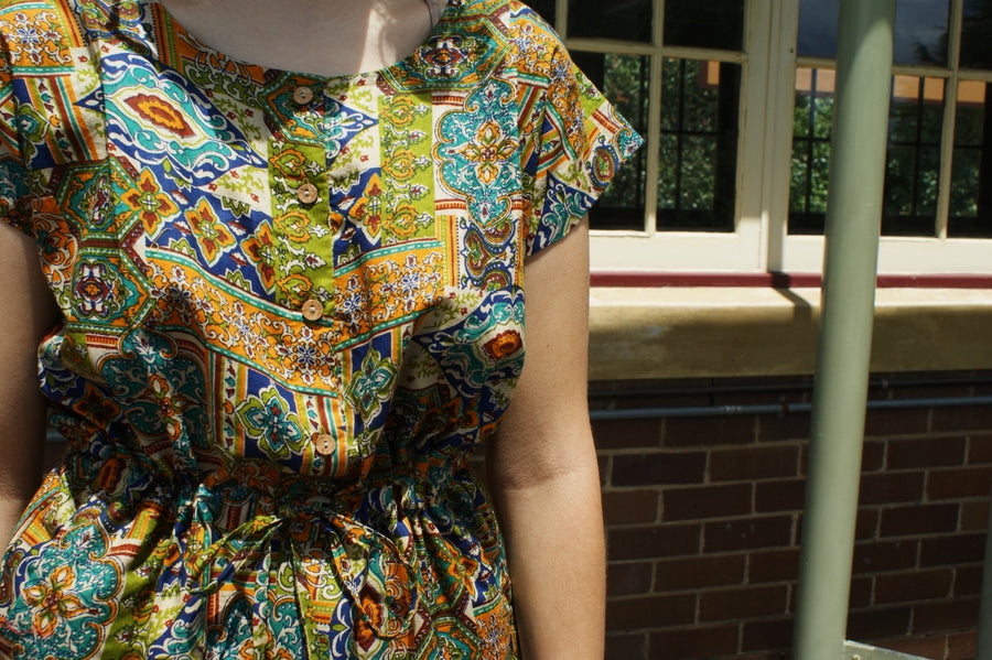 Fair Trade Cotton Jumpsuits Colourful Pattern Design