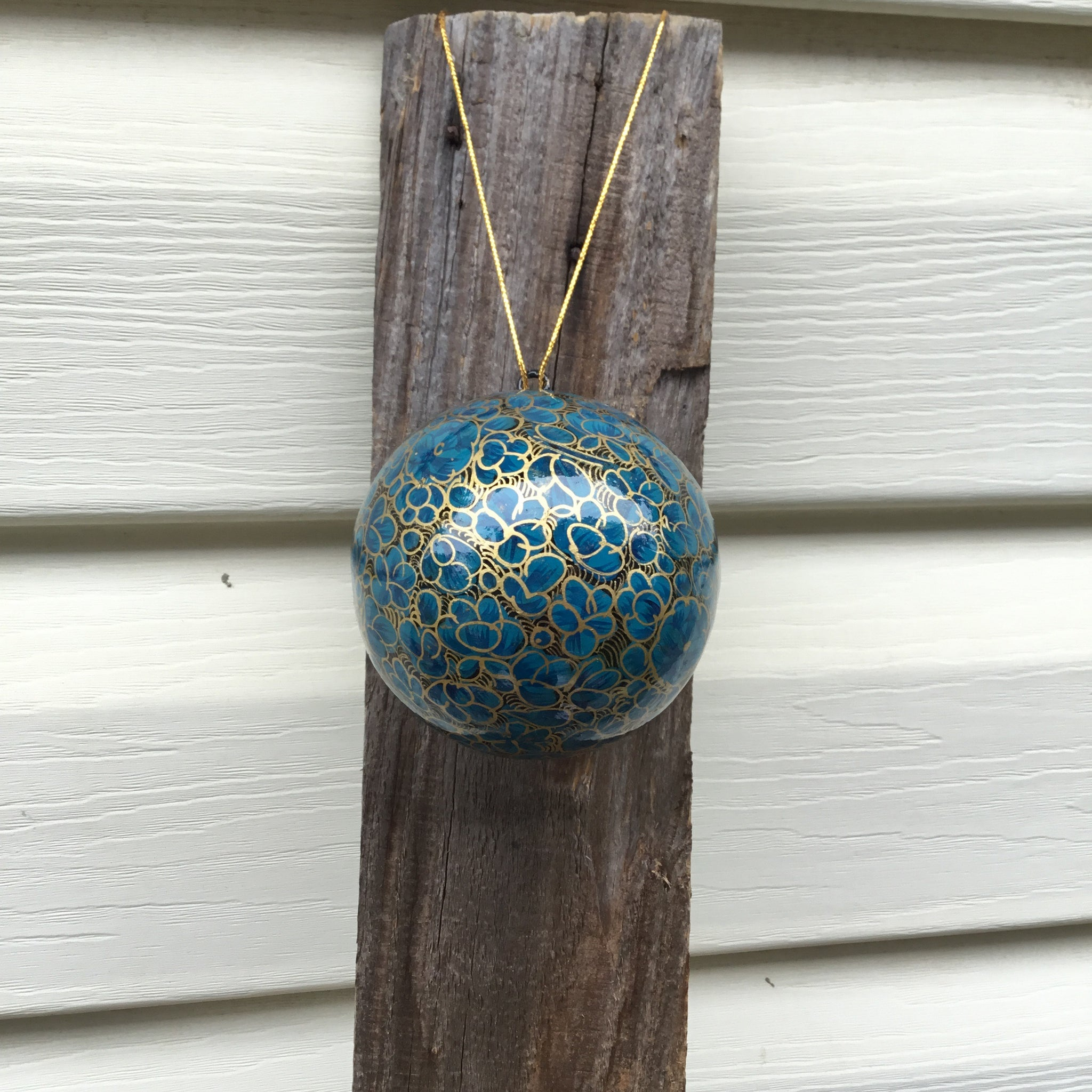 Fair Trade Ethical Christmas Decoration Baubles Blues, Purples