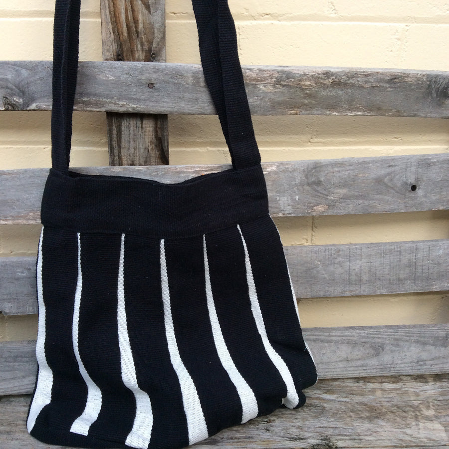 Fair Trade Large Woven Stripe Bag
