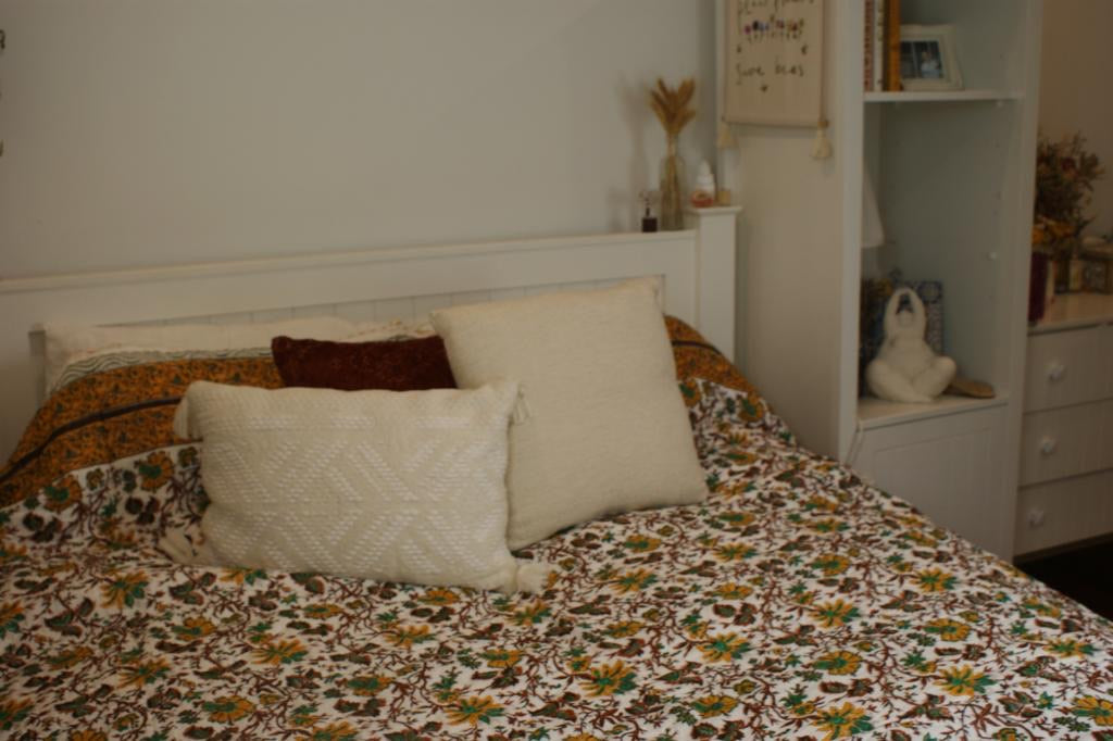 Fair Trade Organic Handmade Quilt -  Field of Lilies