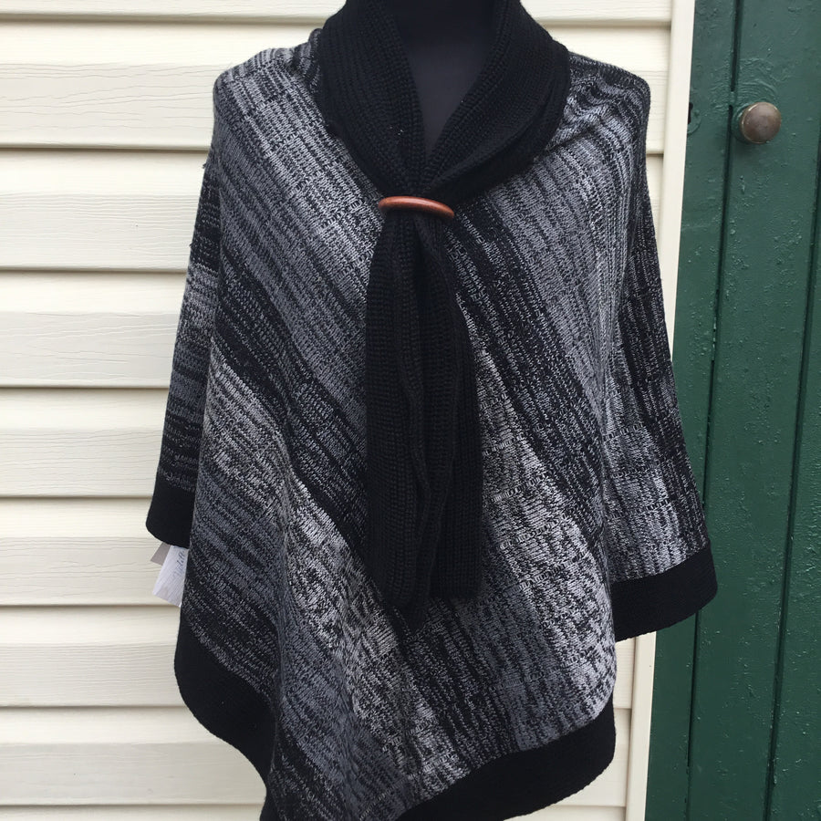 Fair Trade Ethical Woollen Poncho with Scarf