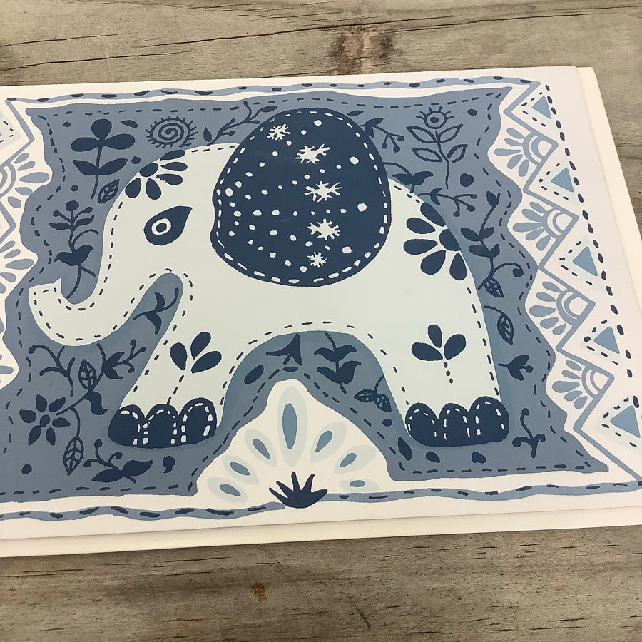 Fair Trade Dreamy Elephant Greeting Card