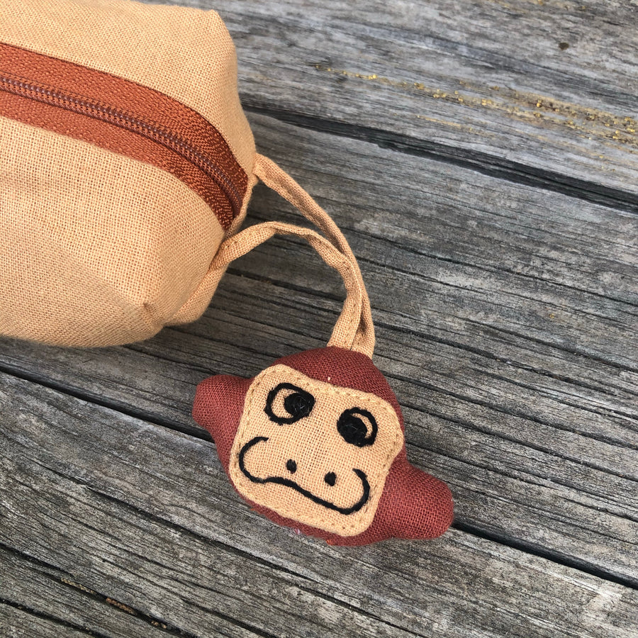 Monkey Round Pencil Case