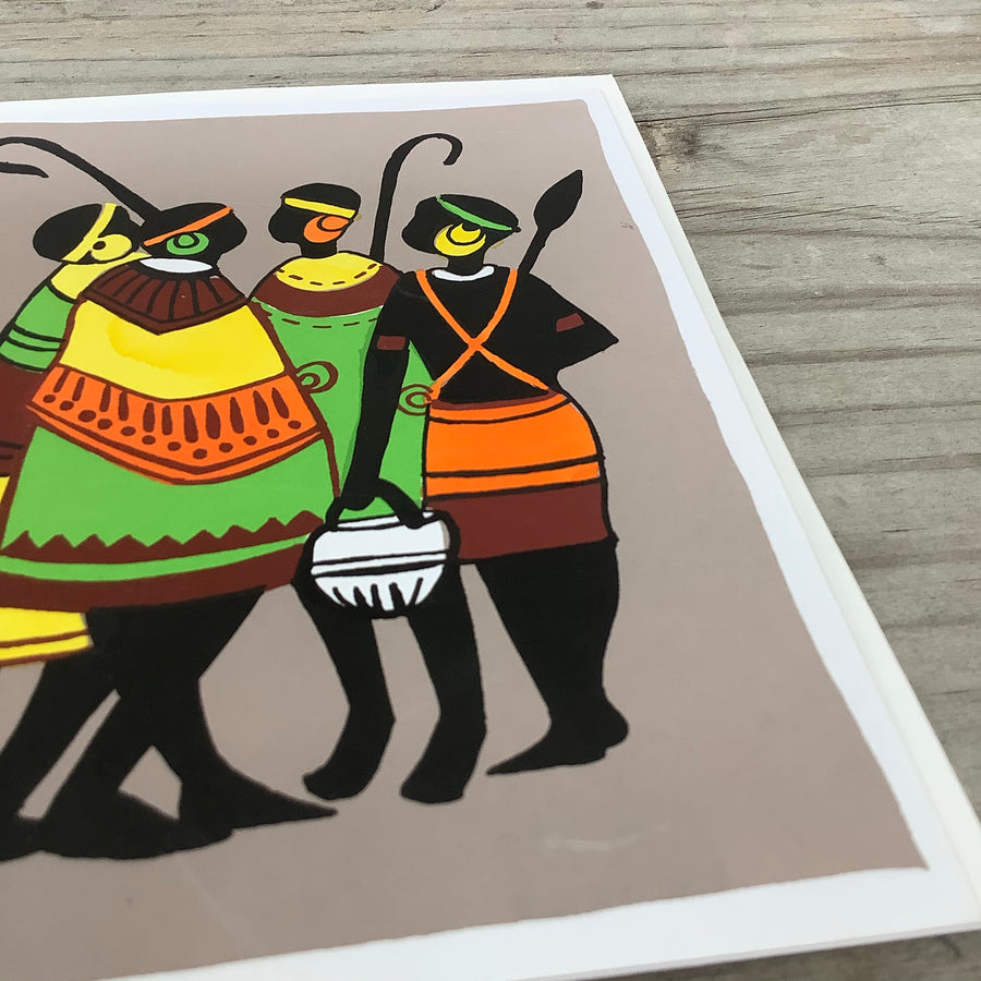 Fair Trade African Tribe Greeting Card