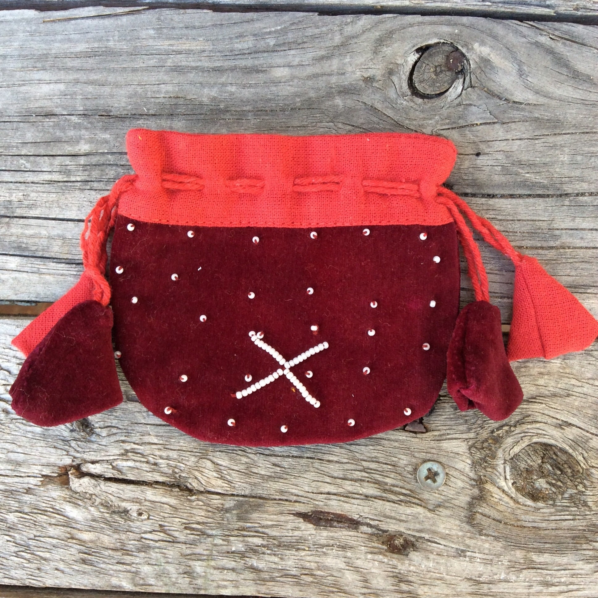 Small Beaded Velvet Nepalese Bags