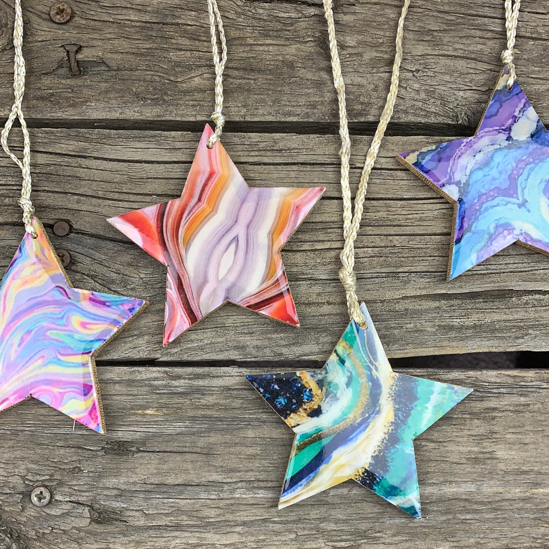 Fair Trade Ethical Christmas Star Tree Decoration Assorted