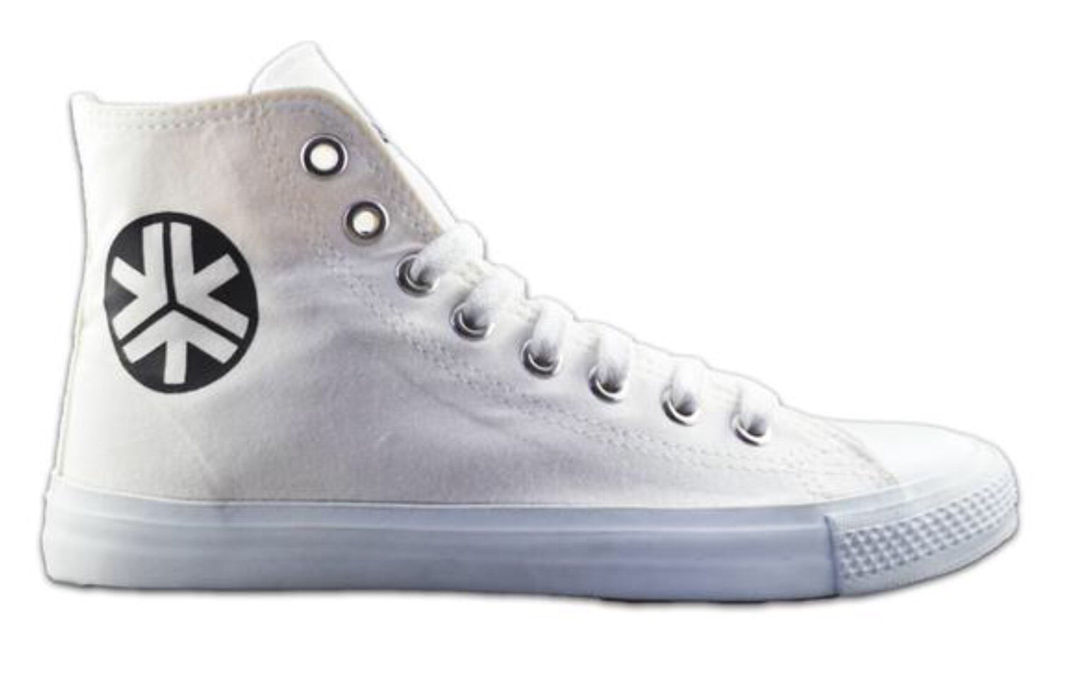 Etiko Fairtrade Hi Top All White Sneakers