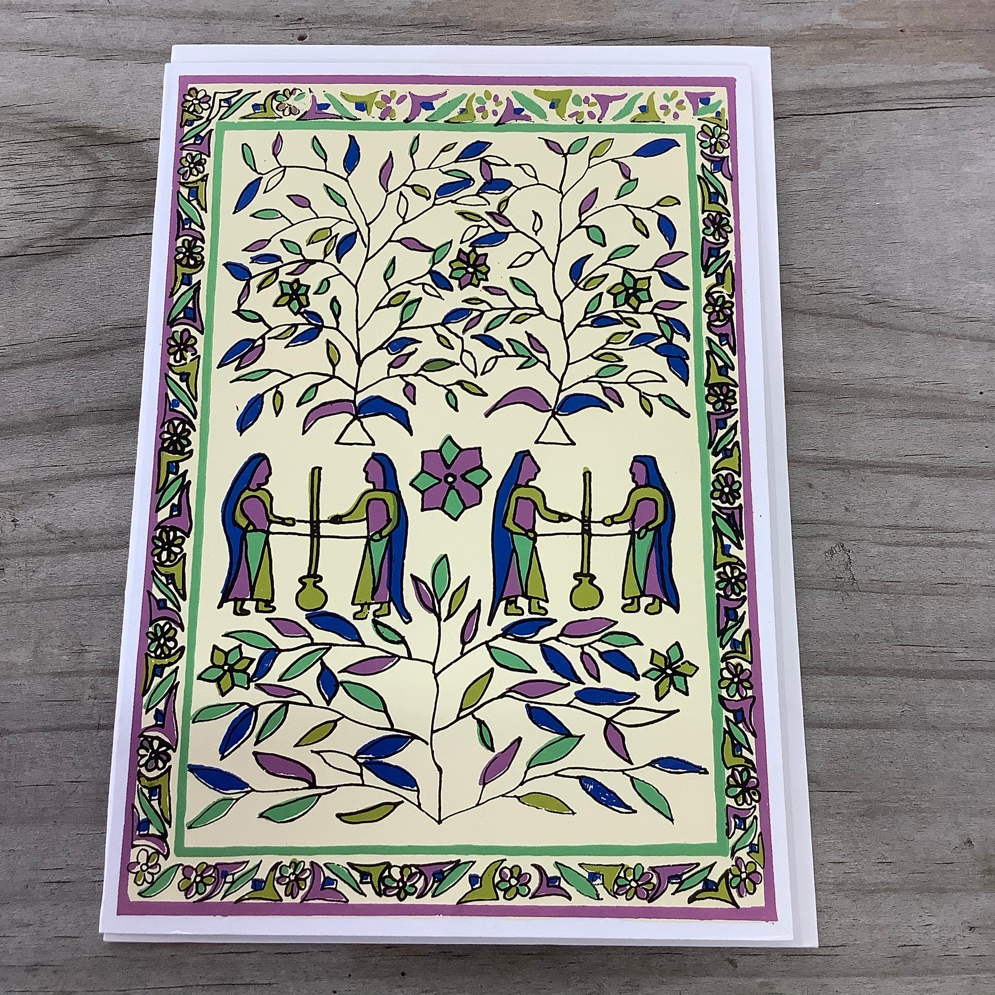 Fair Trade Village Life Greeting Card