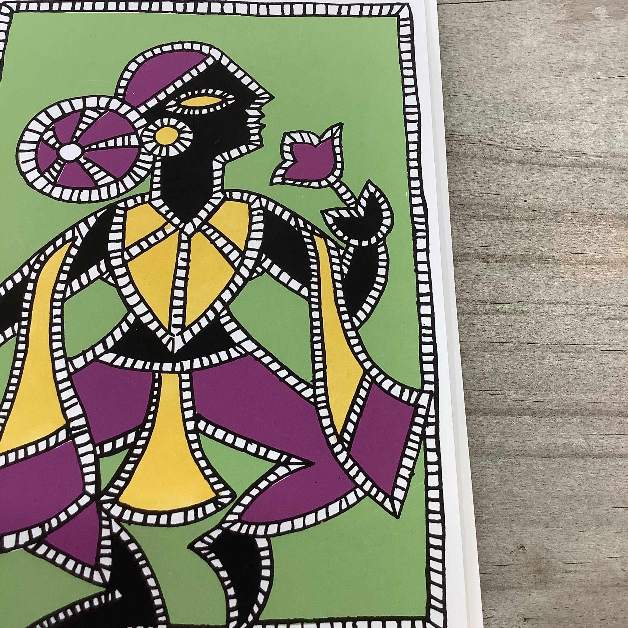Fair Trade Tribal Dancer Greeting Card