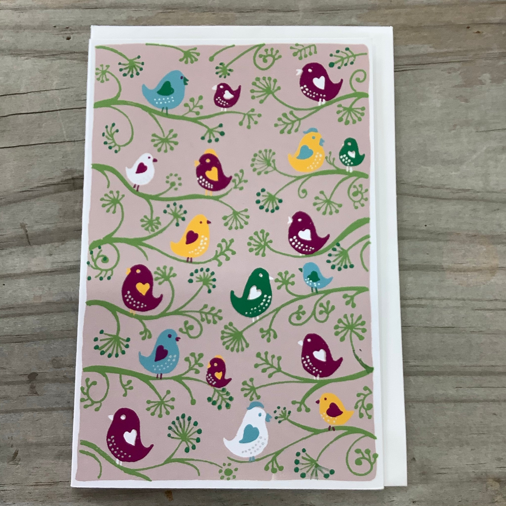 Fair Trade Lovebirds Greeting Card