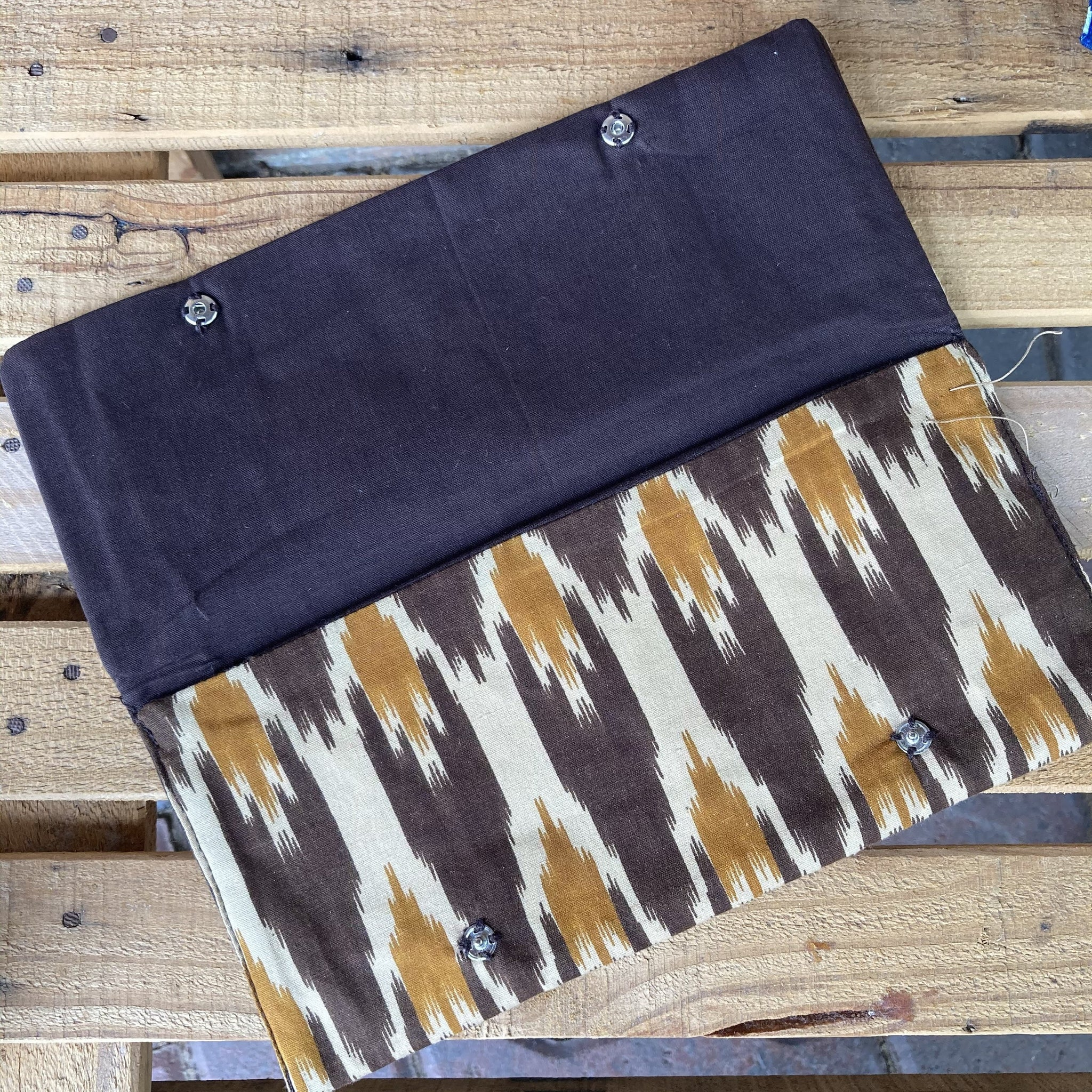 Fair Trade Fabric Wallet with Buttons