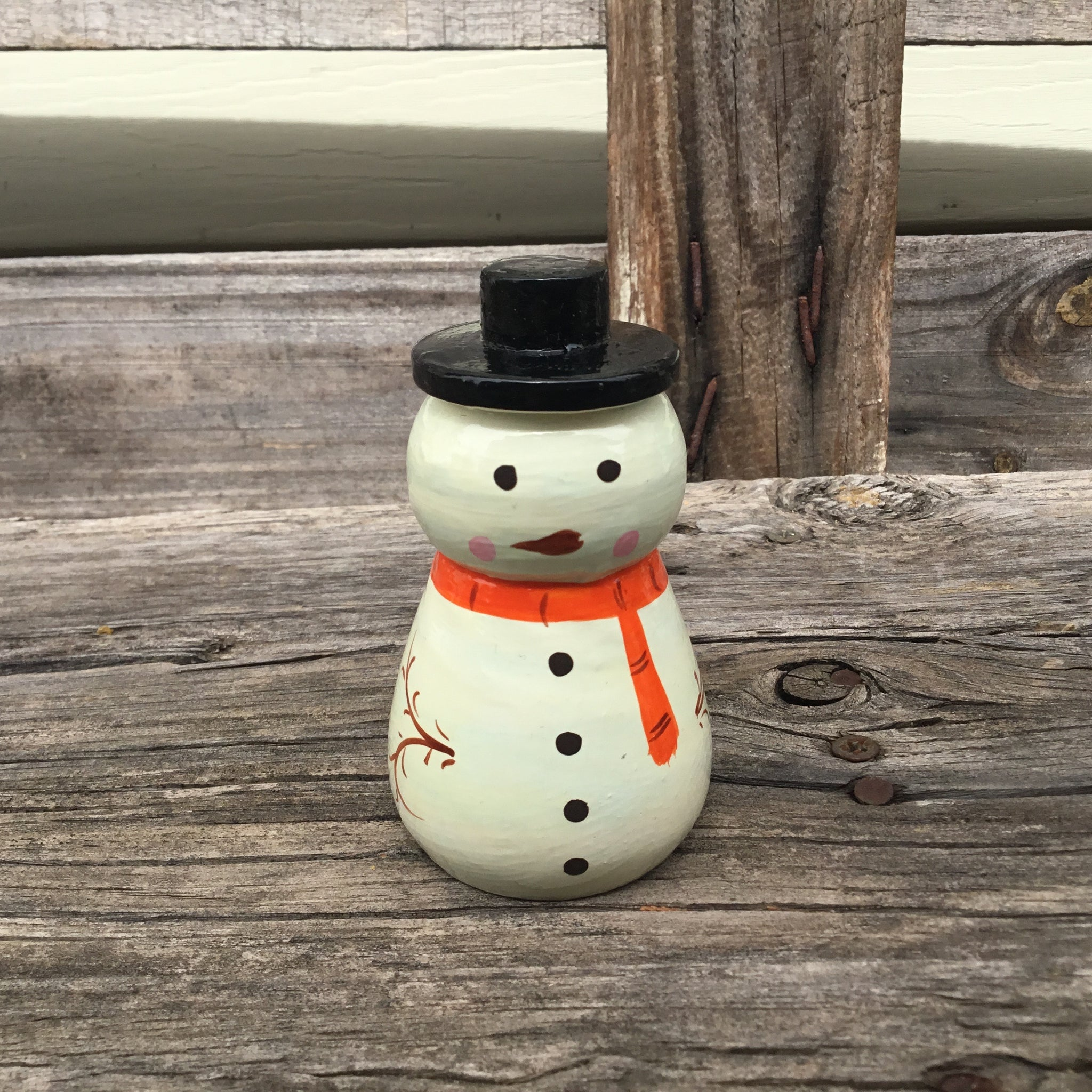 Fair Trade Ethical Christmas Decoration Large Wooden Snowman