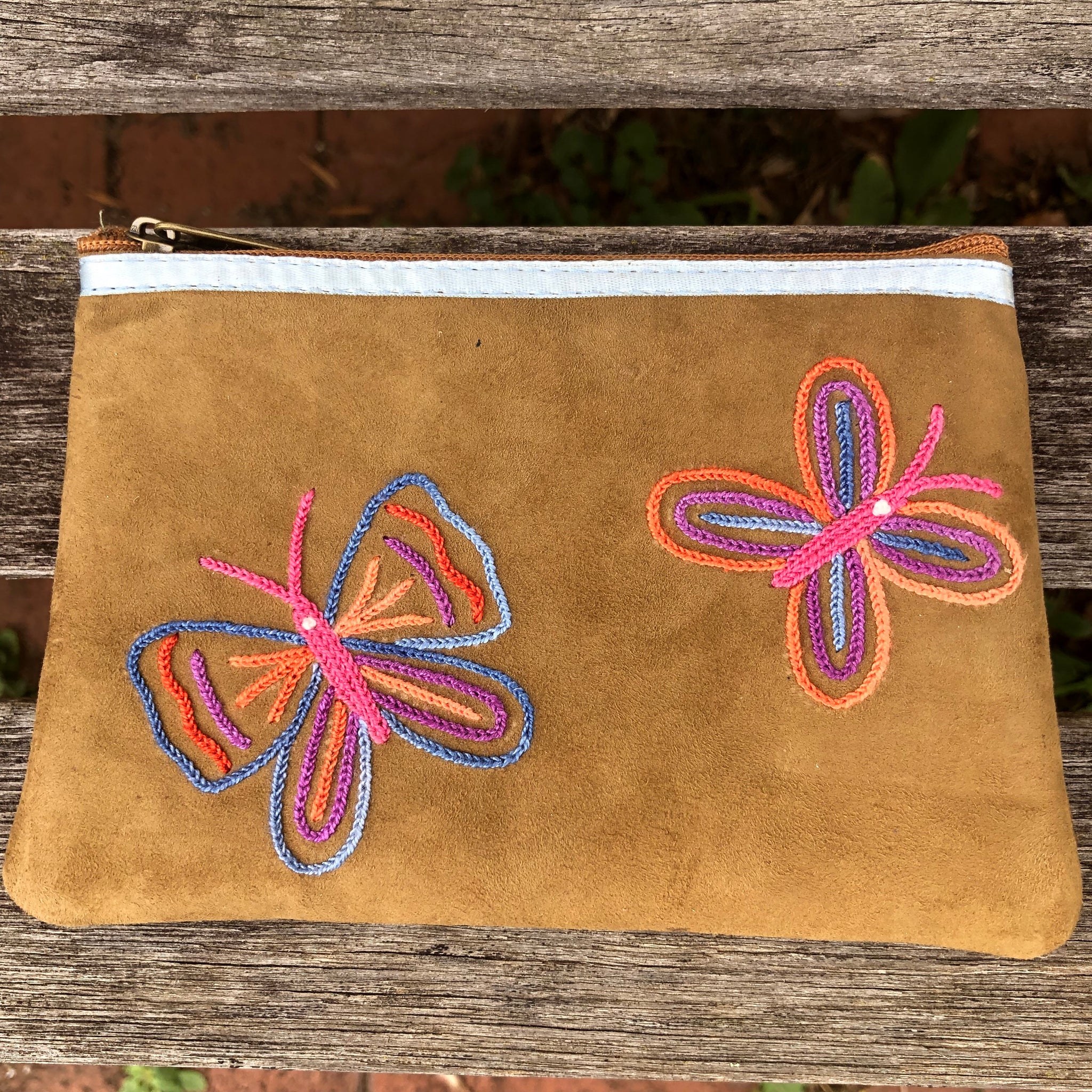 Fair Trade Suede Butterfly Purse