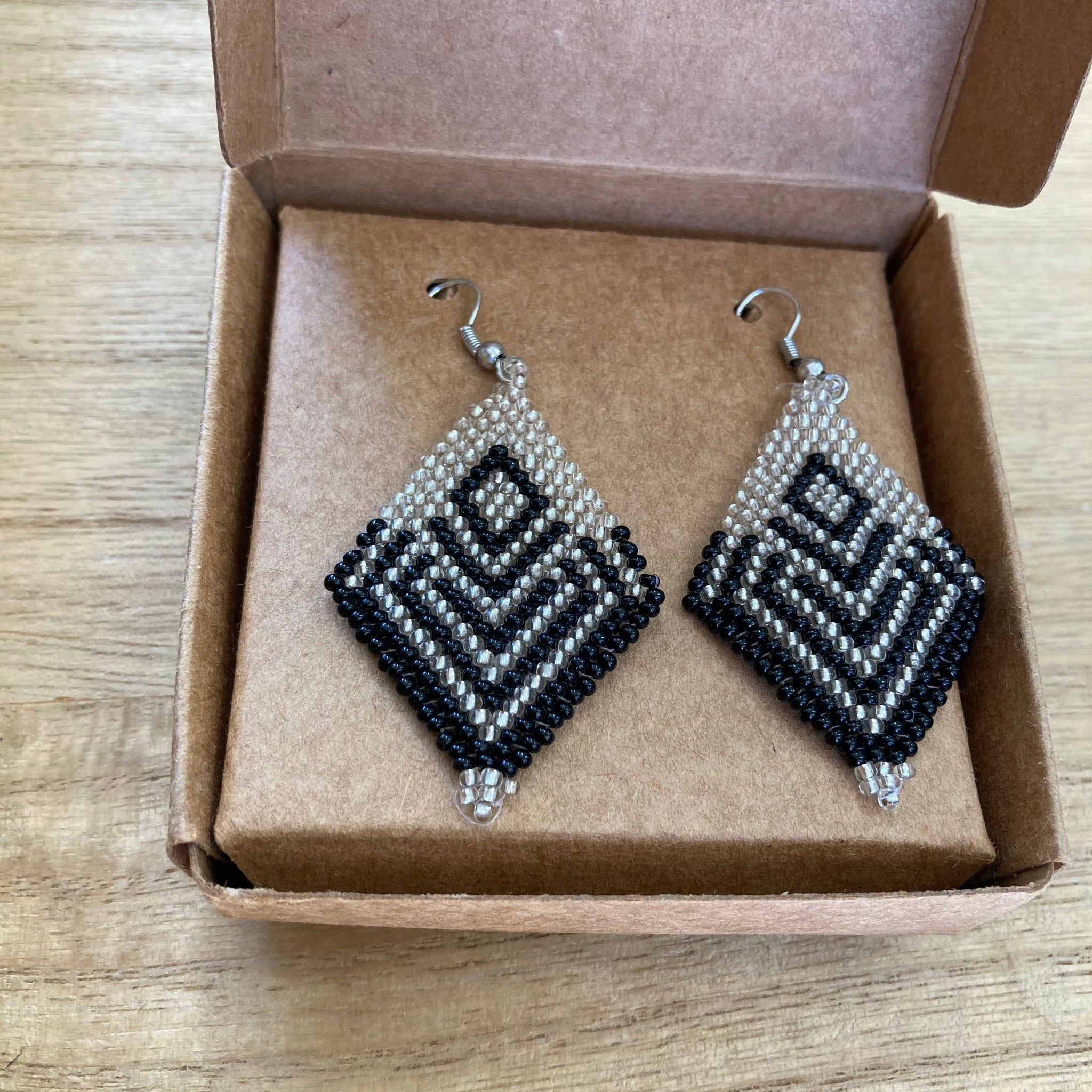 Fair Trade Black Dimond Earrings