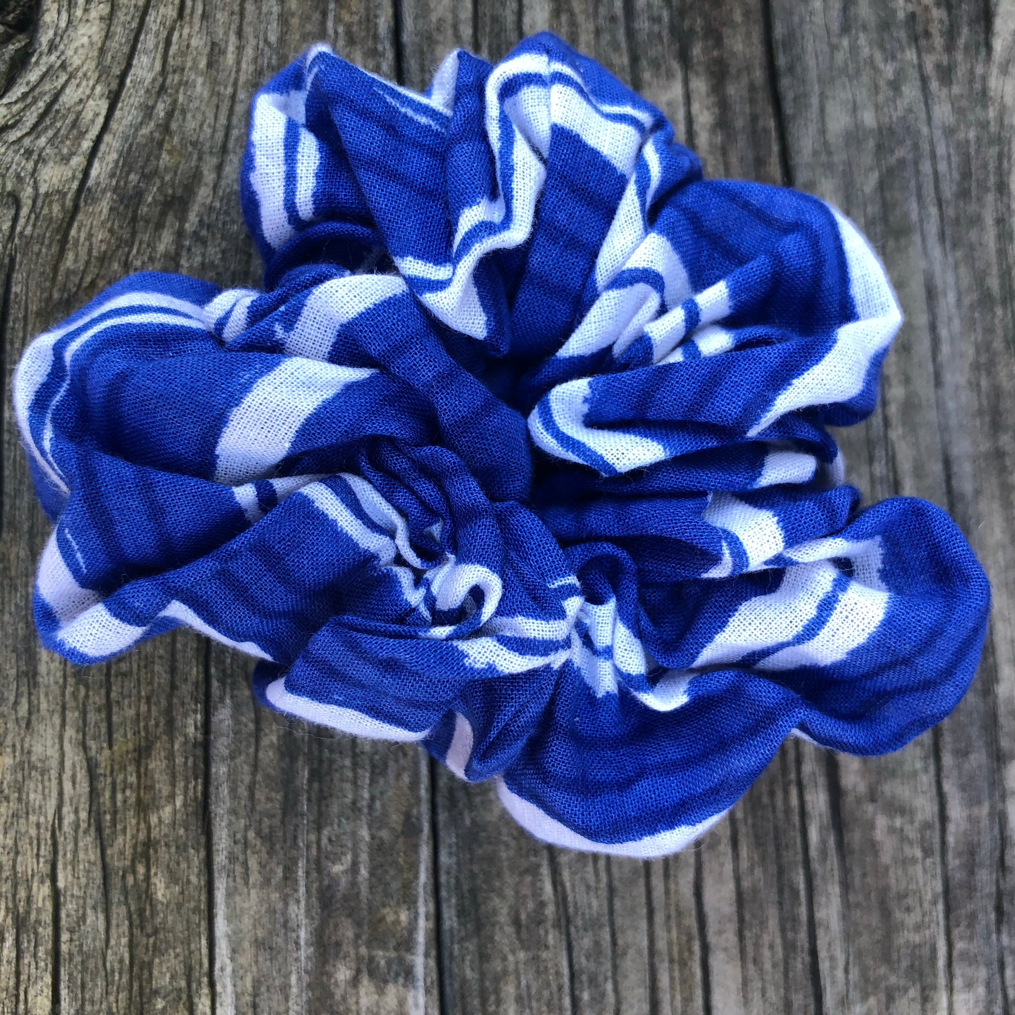 Scrunchies Blue Fabric Designs