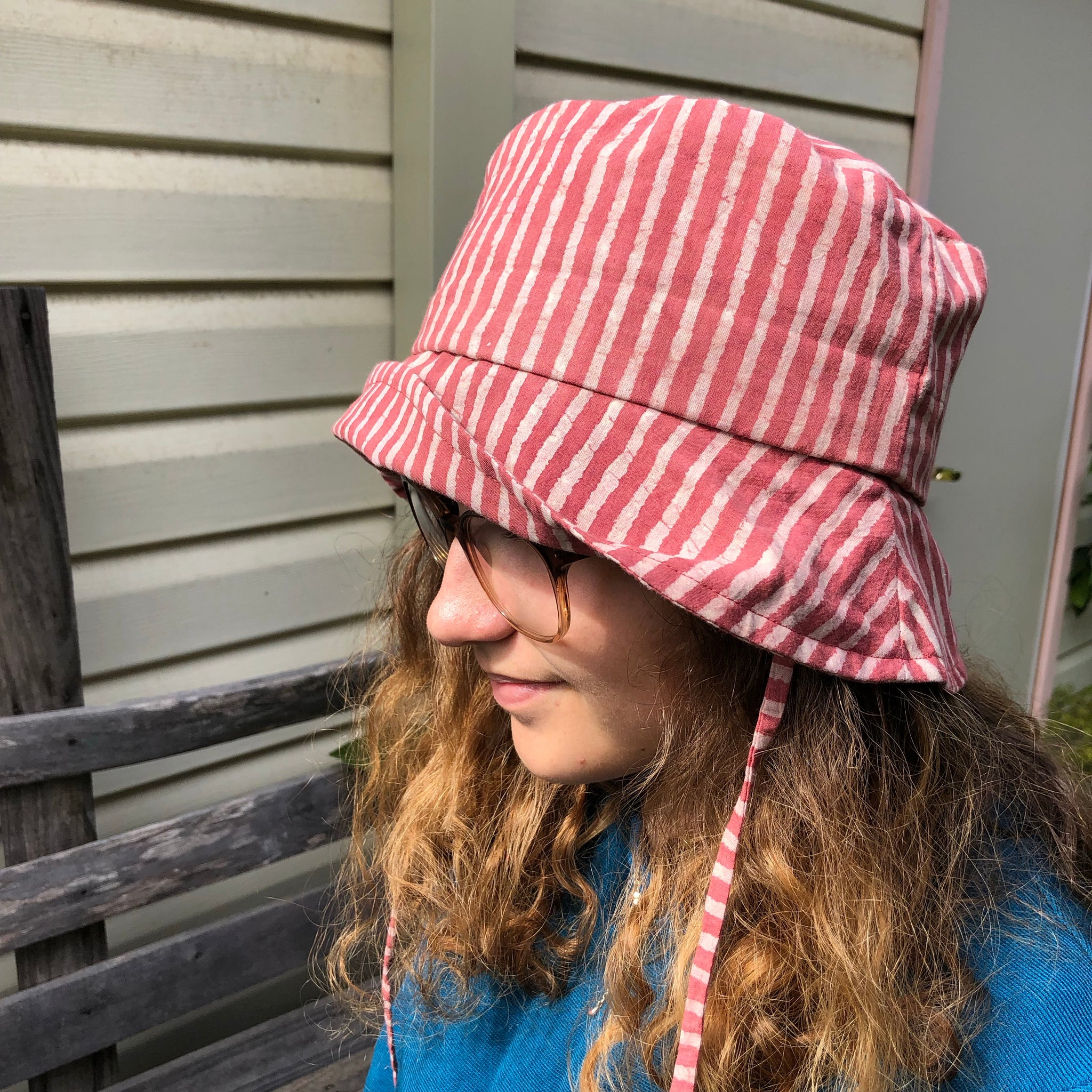 Striped Bucket Adult Hat