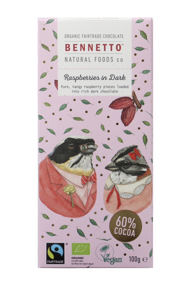 Fairtrade Ethical Organic Bennetto Chocolate Bars
