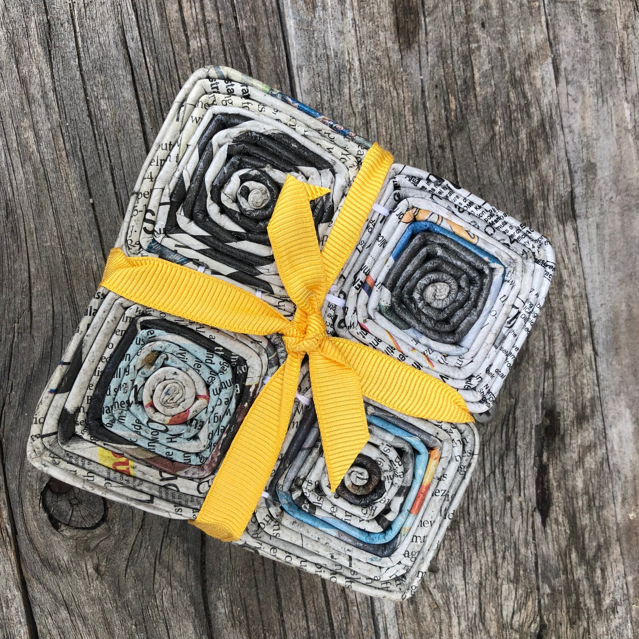 Fair Trade Ethical Paper Coasters Set of 6