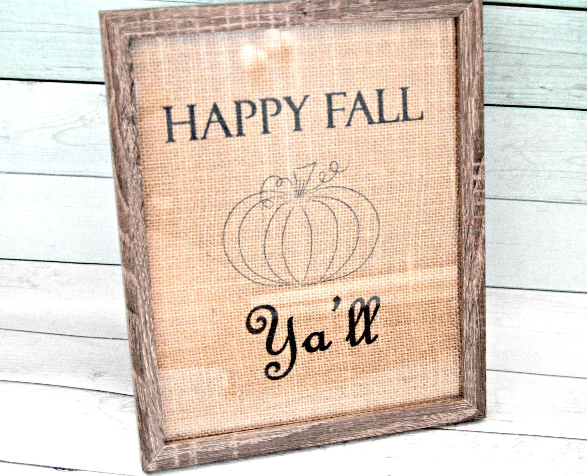Happy Fall Ya'll Burlap Home Decor