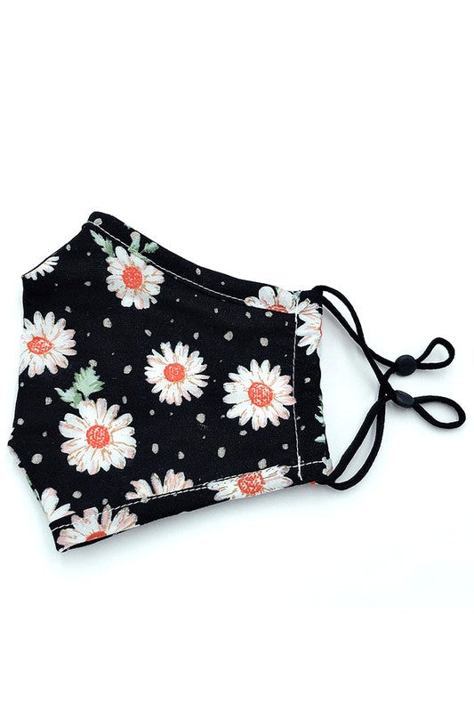Cotton Fabric Reusable Washable Protective Face Mask Floral Fabric