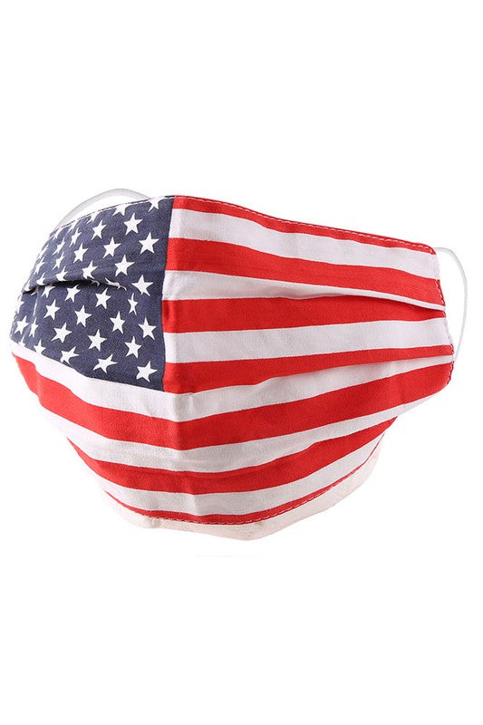 Cotton Fabric Reusable Washable Protective Face Mask American Flag