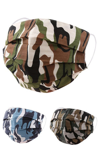 Cotton Fabric Reusable Washable Protective Face Mask Camo Fabric