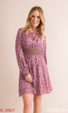 DITSY PRINT PLEATED TUNIC/DRESS