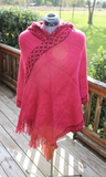 Diamond Trimmed Poncho with Hood