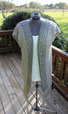 Diamond Trim Long Knit Vest
