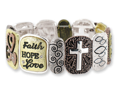 Faith Tile Stretch Bracelet