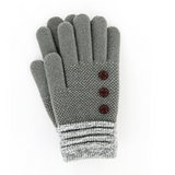 NEW COLORS Britt's Knits Ultra Soft Classic Gloves with Button Detail