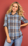 Not Your Boyfriend's Plaid Top Blouse by Simply Noelle