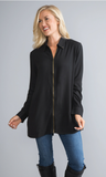 One Zip Collar Top & Lightweight Jacket by Simply Noelle
