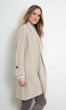 RIBBED LAPEL LONG JACKET by Simply Noelle